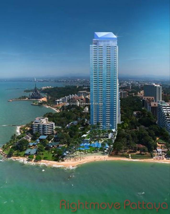2 bedroom condo in wongamart naklua for sale the palm    te koop In Wong Amat Pattaya
